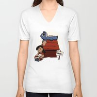 lilo and stitch V-neck T-shirts featuring Lilo & Stitch by le.duc