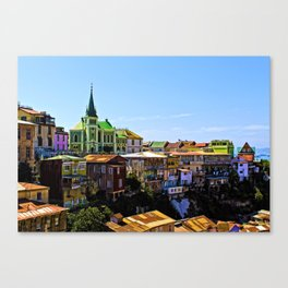 Cerro Conception, Valparaiso, Chile Canvas Print