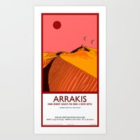 arrakis Art Prints featuring Arrakis by Autunpurser