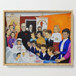 The Breakfast of the First Communion El Desayuno Juan Manuel Rocha Kinkin Serving Tray
