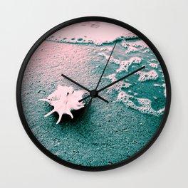 Shell on the beach 02 Wall Clock