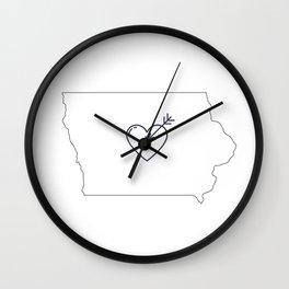 IOWA LOVE Wall Clock