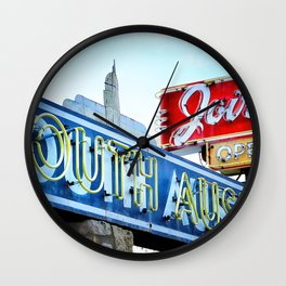 South Austin Neon Wall Clock