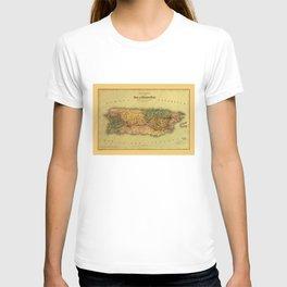Map of Puerto Rico (1886) T-shirt