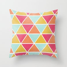 THE BRIGHTEST TRIANGLES Throw Pillow