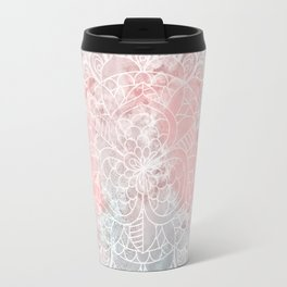 Bright Pink Mandala Design Travel Mug
