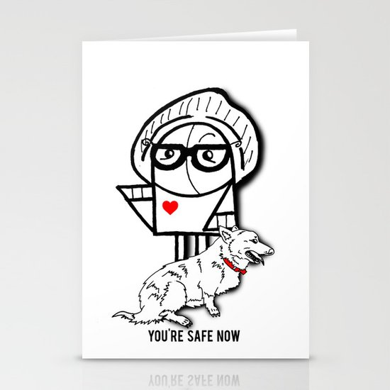 You're Safe Now Stationery Cards