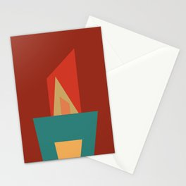 Little Boxes 2, Geometric Shapes Stationery Cards