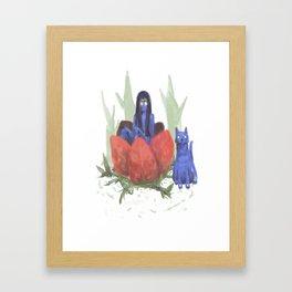 fairy and kitten Framed Art Print