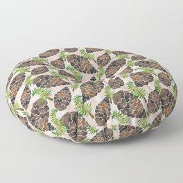 Watercolor Pine Cone Pattern Floor Pillow