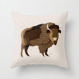 Buffalo Collage Throw Pillow