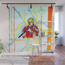 BACH :  Solo for Transverse Flute               by Kay Lipton Wall Mural