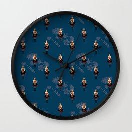 Klara from Moravia Czech folklore dancer Wall Clock