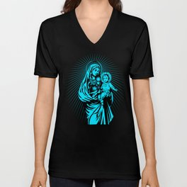 mary mother of god  Unisex V-Neck