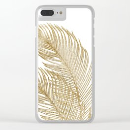 Palm Leaves Finesse Line Art with Gold Foil #2 #minimal #decor #art #society6 Clear iPhone Case