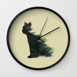 Animal in forest Wall Clock