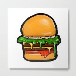 Double cheeseburger Metal Print
