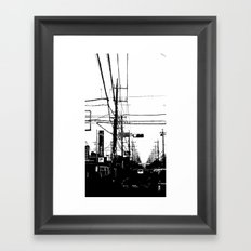 Japan Street Framed Art Print