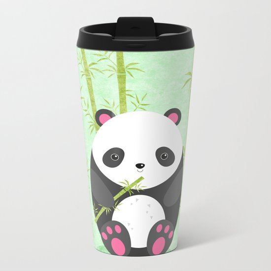 Panda Metal Travel Mug