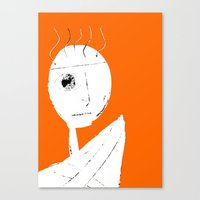 clockwork orange Canvas Prints featuring Clockwork Orange by Defedia