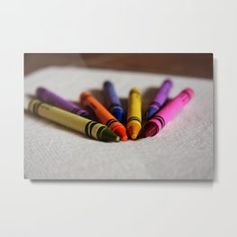 Crayon Love - Ready Set Create Metal Print