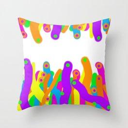 Anenomes Throw Pillow