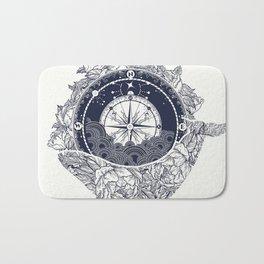 whale compass special design Bath Mat
