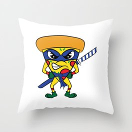 "Luscious and fierce ""Ninja Pizza"" tee design. Perfect gift for pizza lovers like you!  Throw Pillow"