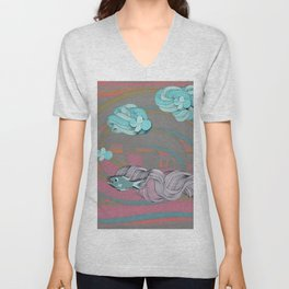 The eternal quest for happiness Unisex V-Neck