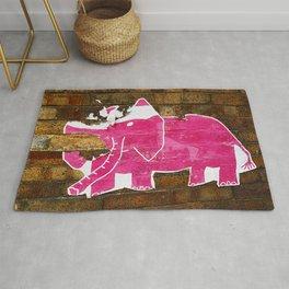 Tattered Pink Elephant Rug