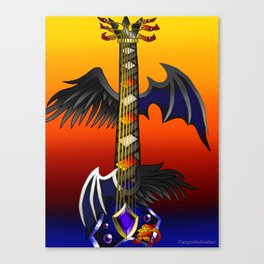 Fusion Keyblade Guitar #69 - One-Winged Angel & Oblivion Canvas Print