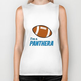 True Panthera American Football Design black lettering Biker Tank