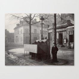 Outdoor Public Unrinal in Paris France, 1865 Canvas Print