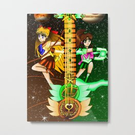 Fusion Sailor Moon Guitar #20 - Sailor Venus & Sailor Jupiter Metal Print