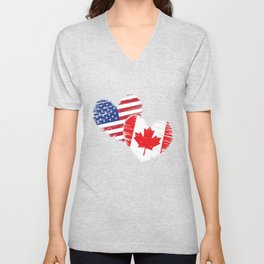Canada Flag America Unisex V-Neck