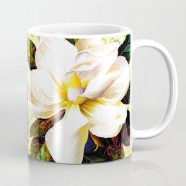 Italian Magnolia, Mediterranean floral art Coffee Mug