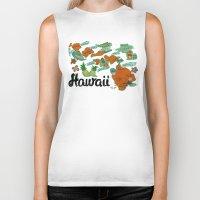 hawaii Biker Tanks featuring HAWAII by Christiane Engel