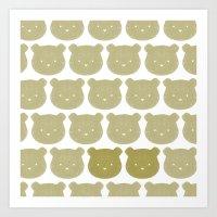 teddy bear Art Prints featuring Teddy by ColourMoiChic