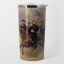 Grant and His Generals Painting Travel Mug