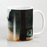 lake Mugs featuring Lake by Viggart