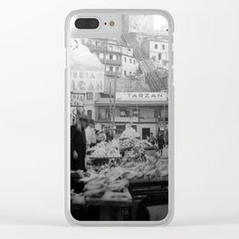 "Valparaiso Chile: Waterfront district showing ""ascensors"" up to top of bluff. June, 1941. Clear iPhone Case"
