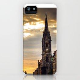 Royal Mile Sunrise in Edinburgh, Scotland iPhone Case