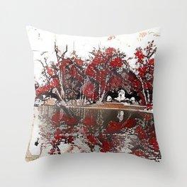 Stadtpark Nuremberg Throw Pillow