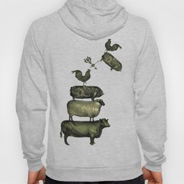 Farm Living - Stacked Animals Hoody