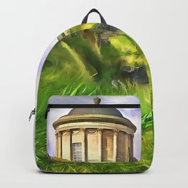 Mussenden Temple, Ireland. (Painting) Backpack