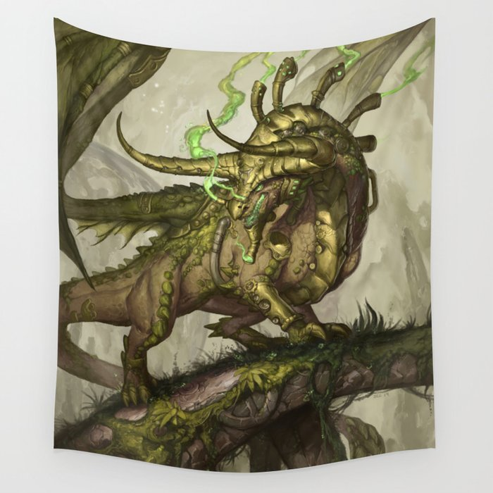 Zodiac Dragons Calendar Taurus Wall Tapestry by sixthleafclover