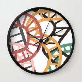 Roller coaster pattern Wall Clock