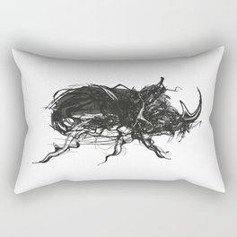 Beetle 1. Black on white background Rectangular Pillow