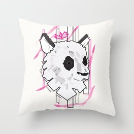Queen Panda Throw Pillow