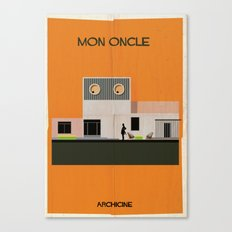 2.	Mon oncle Directed Jacques Tati. Canvas Print
